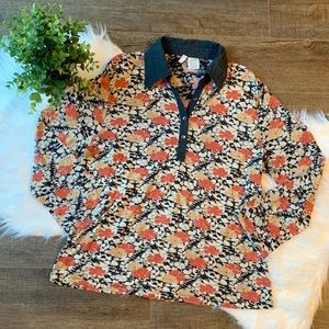 Anthropologie [Moth] floral shirt